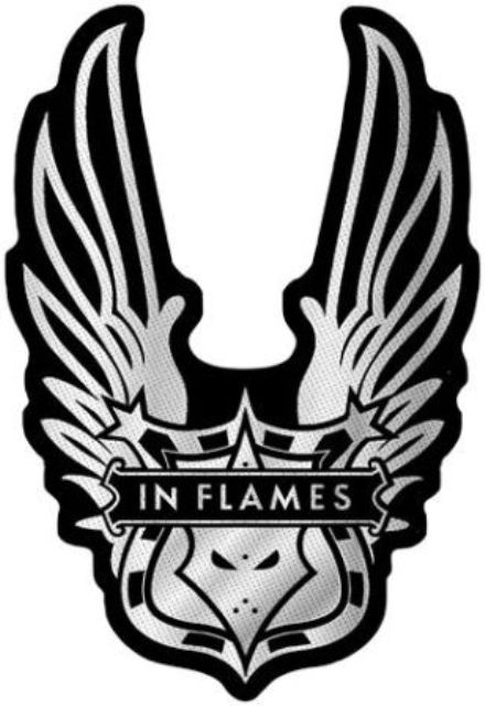 In Flames  Winged Logo Cut Out   Patch
