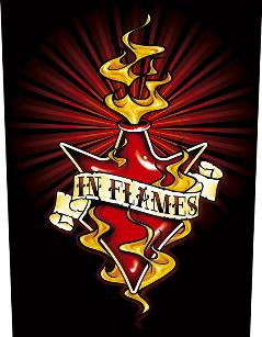 In Flames   Burning Jester   Backpatch