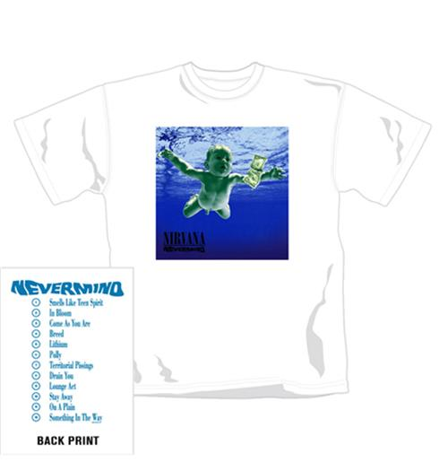Nirvana T Shirt Nevermind. Emi Music officially licensed t-shirt.