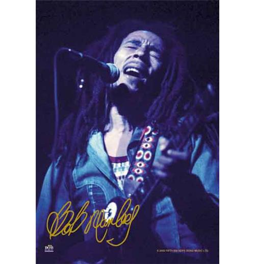 Bob Marley Signature Flag