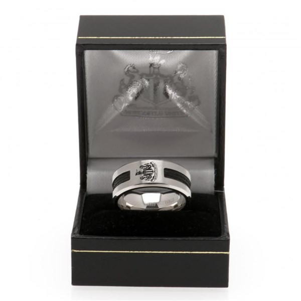 Newcastle United F.C. Black Inlay Ring Small