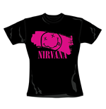 Nirvana T Shirt Stripey Pink. Emi Music officially licensed t-shirt.