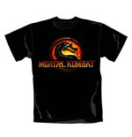 T Shirt Logo Mortal Kombat. Emi Music officially licensed t-shirt.