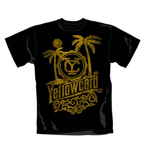 Yellowcard T Shirt Beach. Emi Music officially licensed t-shirt.