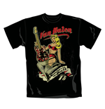 Van Halen T Shirt Pin Up Guitar. Emi Music officially licensed t-shirt.