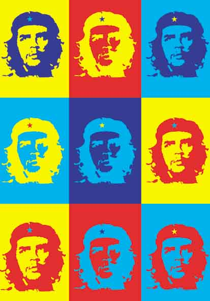 Che Guevara Pop Art Flag