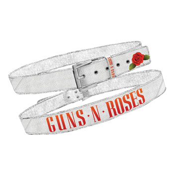 Guns N Roses Rose Print Cotton Belt