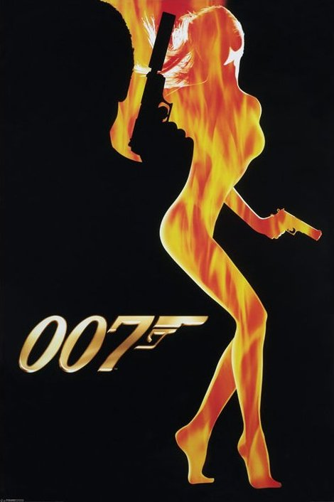 James Bond Flame Girl Poster