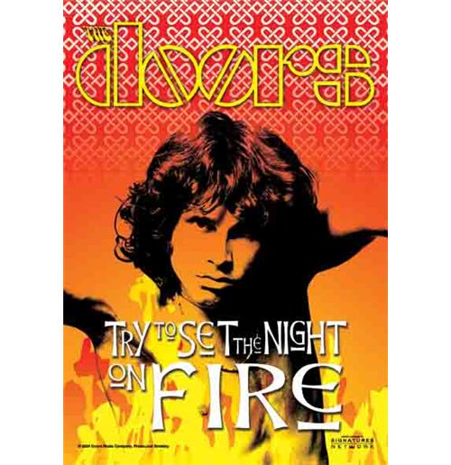 The Doors On Fire Flag