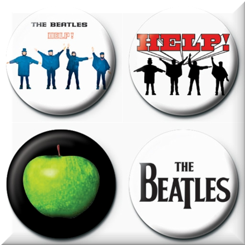The Beatles 4 Badges Badgepack 1