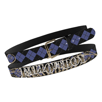 Fall Out Boy Print Stitch Leather Belt