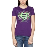Superman T Shirt Dayglo Krypton Graphic. Emi Music officially licensed t-shirt.
