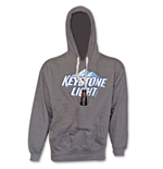 Keystone Beer New Logo Pouch Hooded Sweat Shirt - Grey