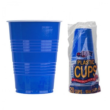16 Ounce Blue Solo Cups 20 Pack
