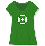 Green Lantern Ladies T-Shirt Logo Vintage green