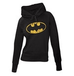 Batman Ladies Hooded Sweater Logo