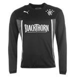 2013-14 Rangers Puma Sweat Top (Black) - Kids