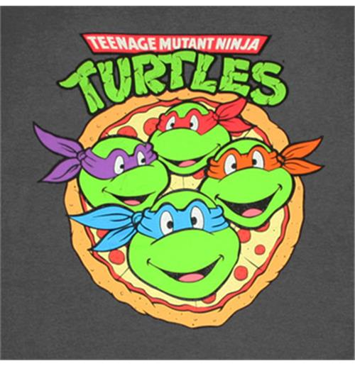 a928844ce1bce Buy TEENAGE MUTANT NINJA TURTLES Pizza Logo Gray Graphic Tee Shirt
