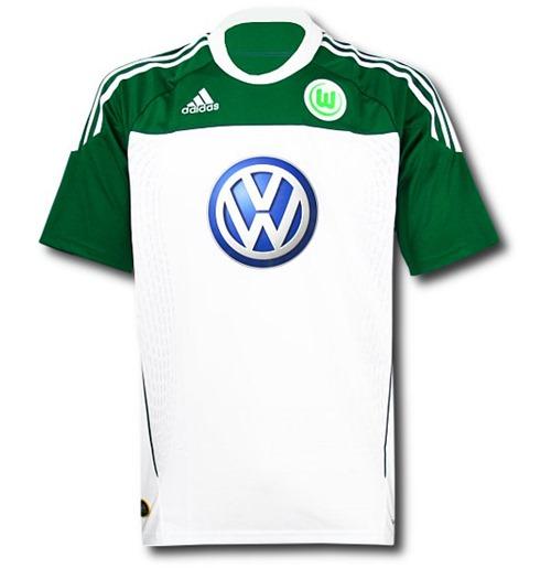 multiple colors bfa7f f0582 2010-11 VFL Wolfsburg Adidas Home Football Shirt